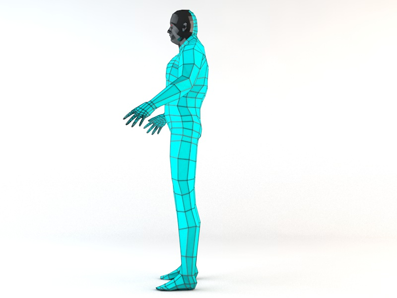 futuristic male human game character 3d model 3ds fbx c4d dae obj 218617