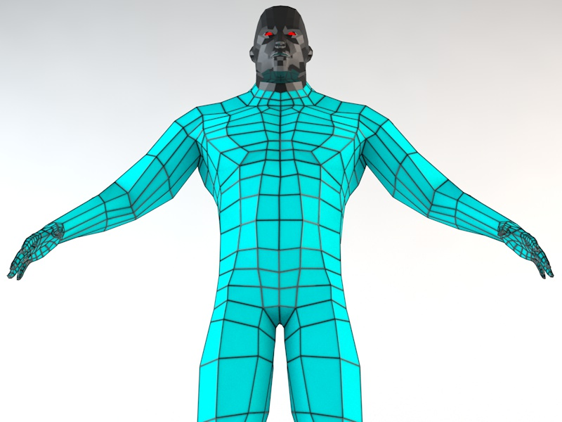 futuristic male human game character 3d model 3ds fbx c4d dae obj 218618