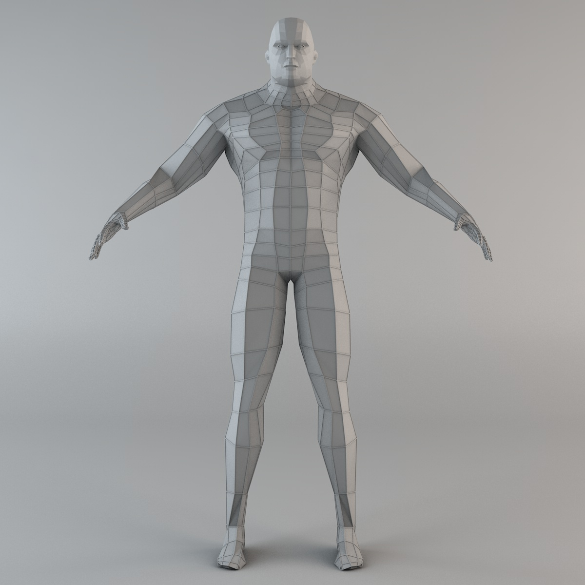 futuristic male human game character 3d model 3ds fbx c4d dae obj 218626