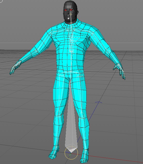 futuristic male human game character 3d model 3ds fbx c4d dae obj 218628