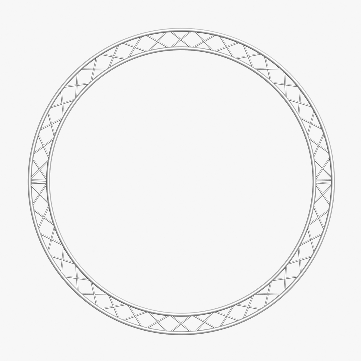 circle square truss (400cm) 3d model max fbx obj 218633