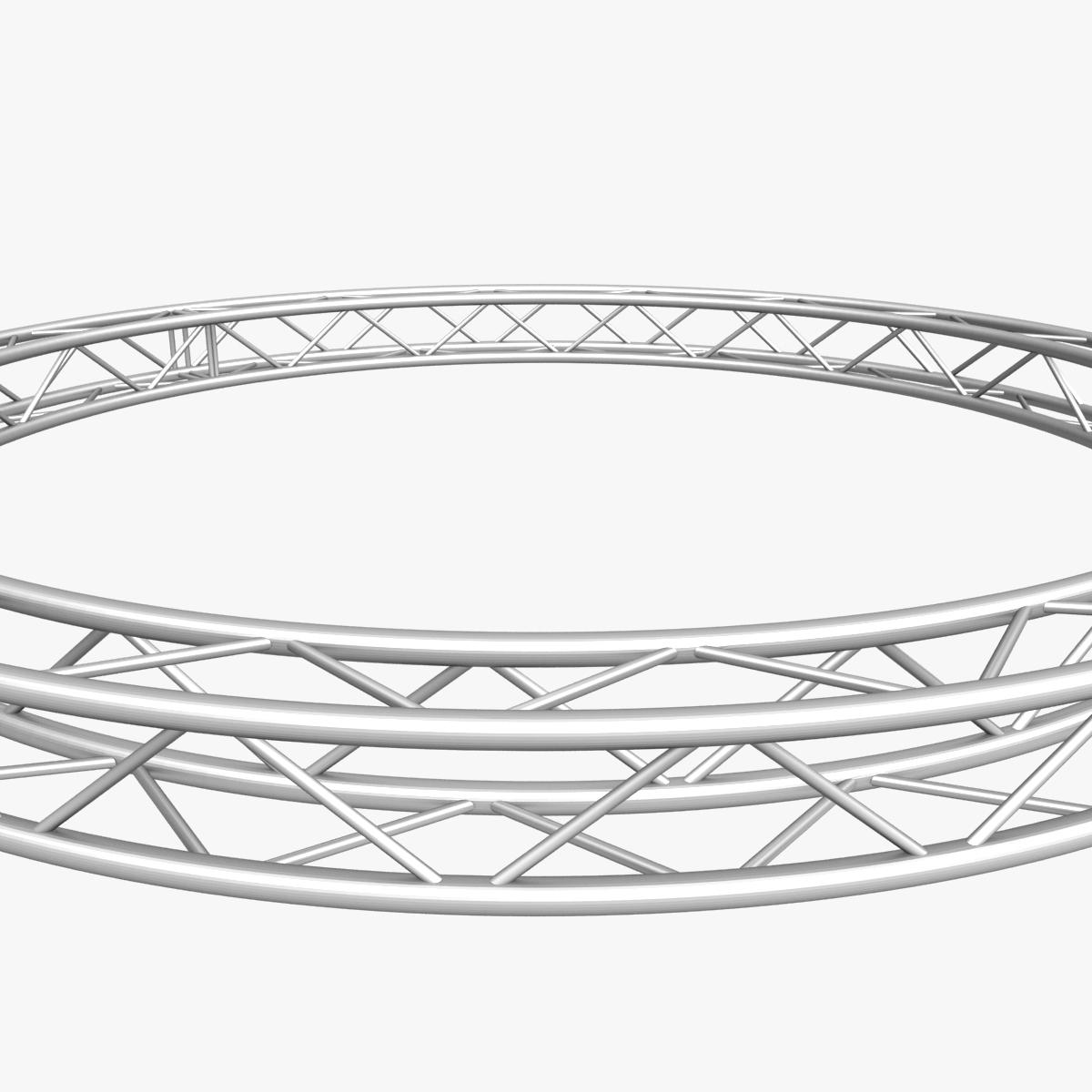 circle square truss (400cm) 3d model max fbx obj 218636