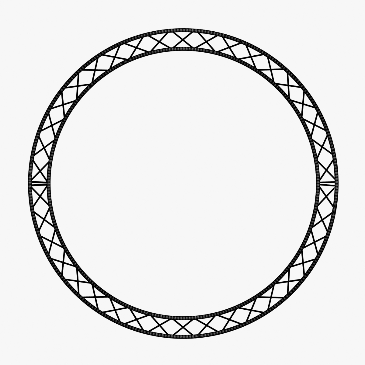 circle square truss (400cm) 3d model max fbx obj 218638