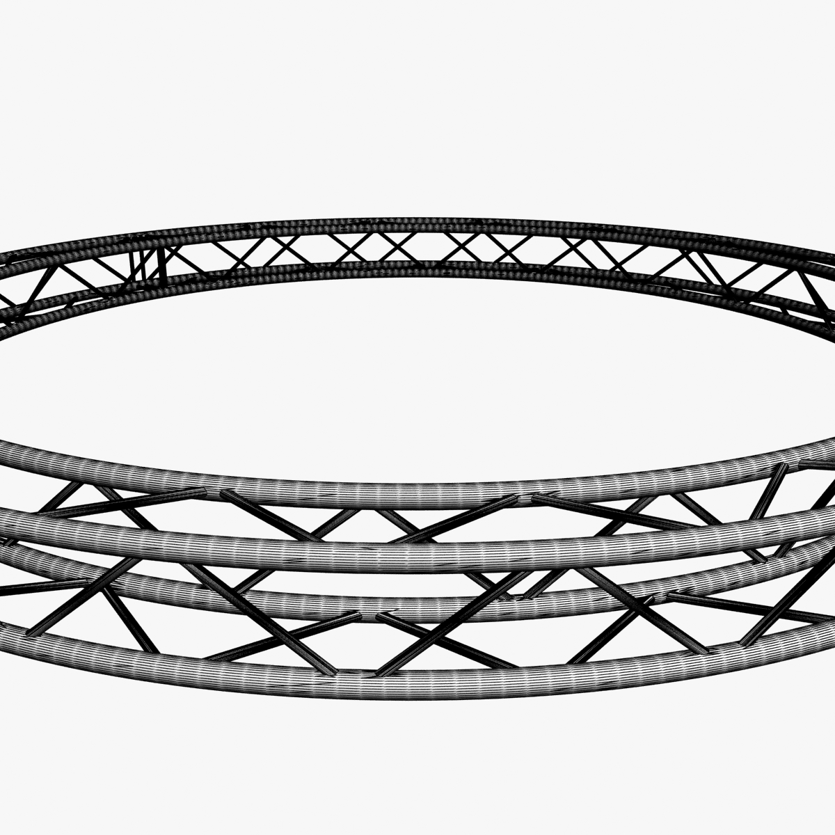 circle square truss (400cm) 3d model max fbx obj 218640