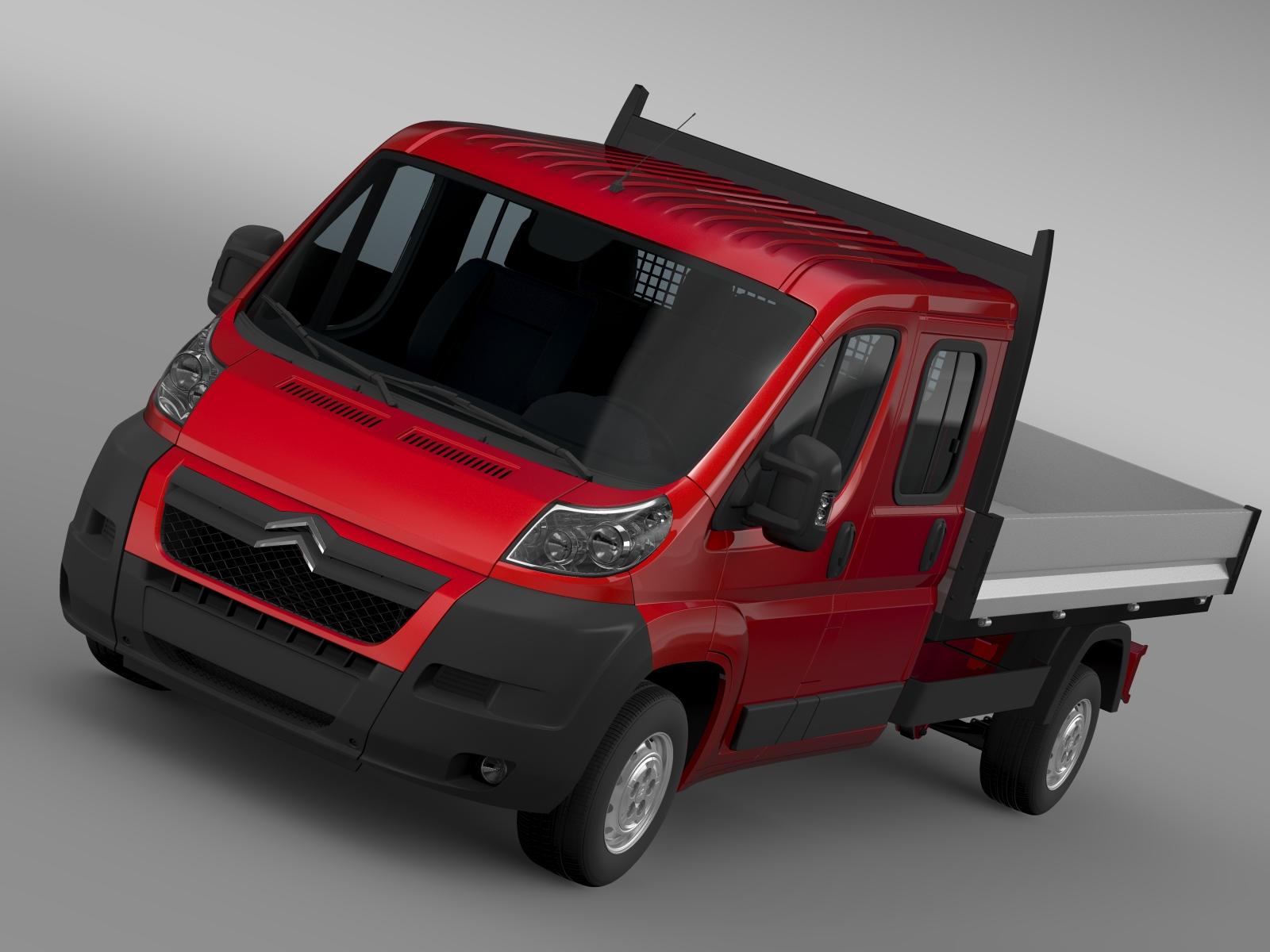 citroen jumper crew cab truck 2009-2014 3d model 3ds maks fbx c4d lwo ma mb hrc xsi obj 218642