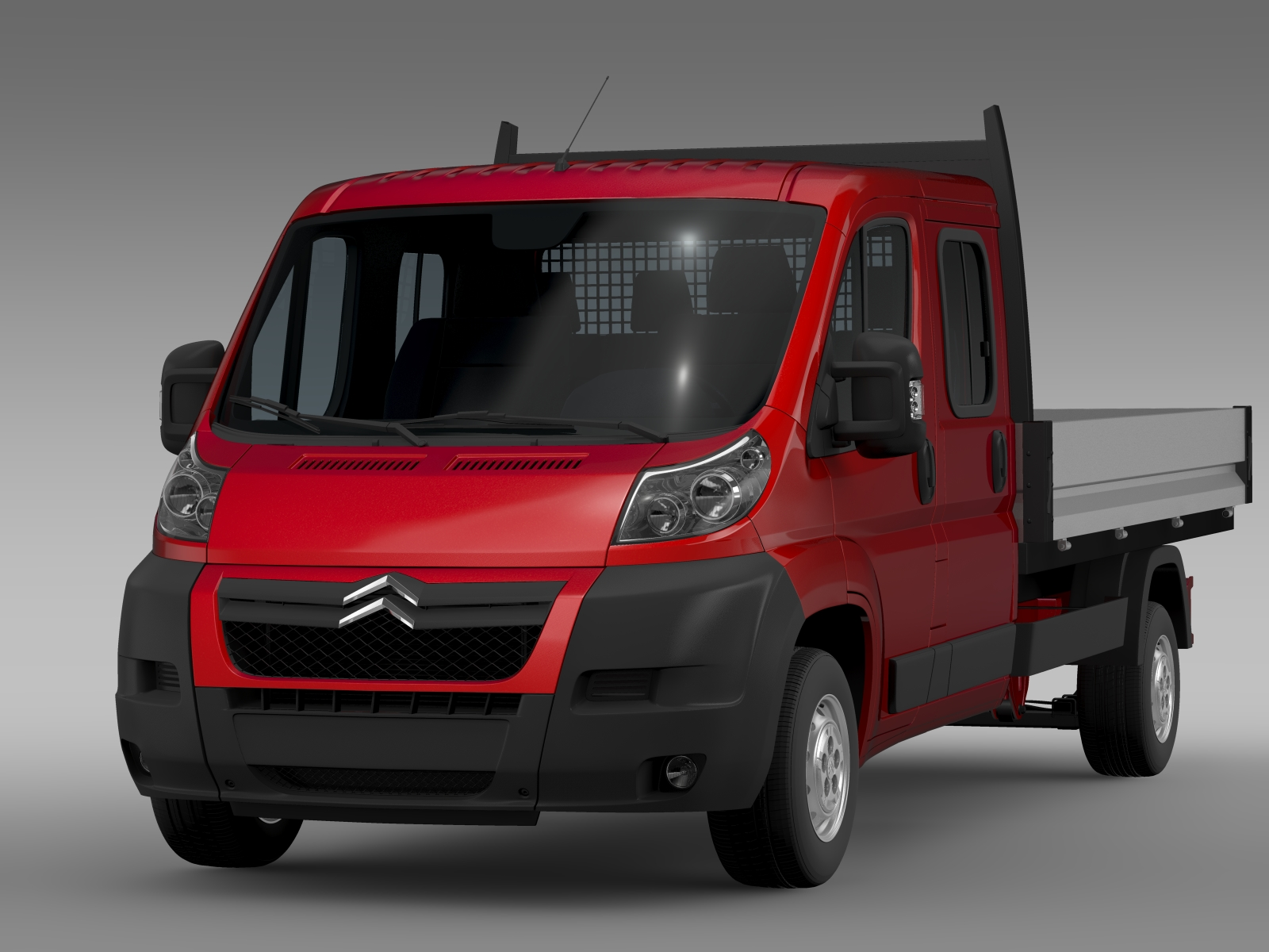 citroen jumper crew cab truck 2009 2014 3d model vehicles 3d models commercial 3ds max fbx c4d. Black Bedroom Furniture Sets. Home Design Ideas