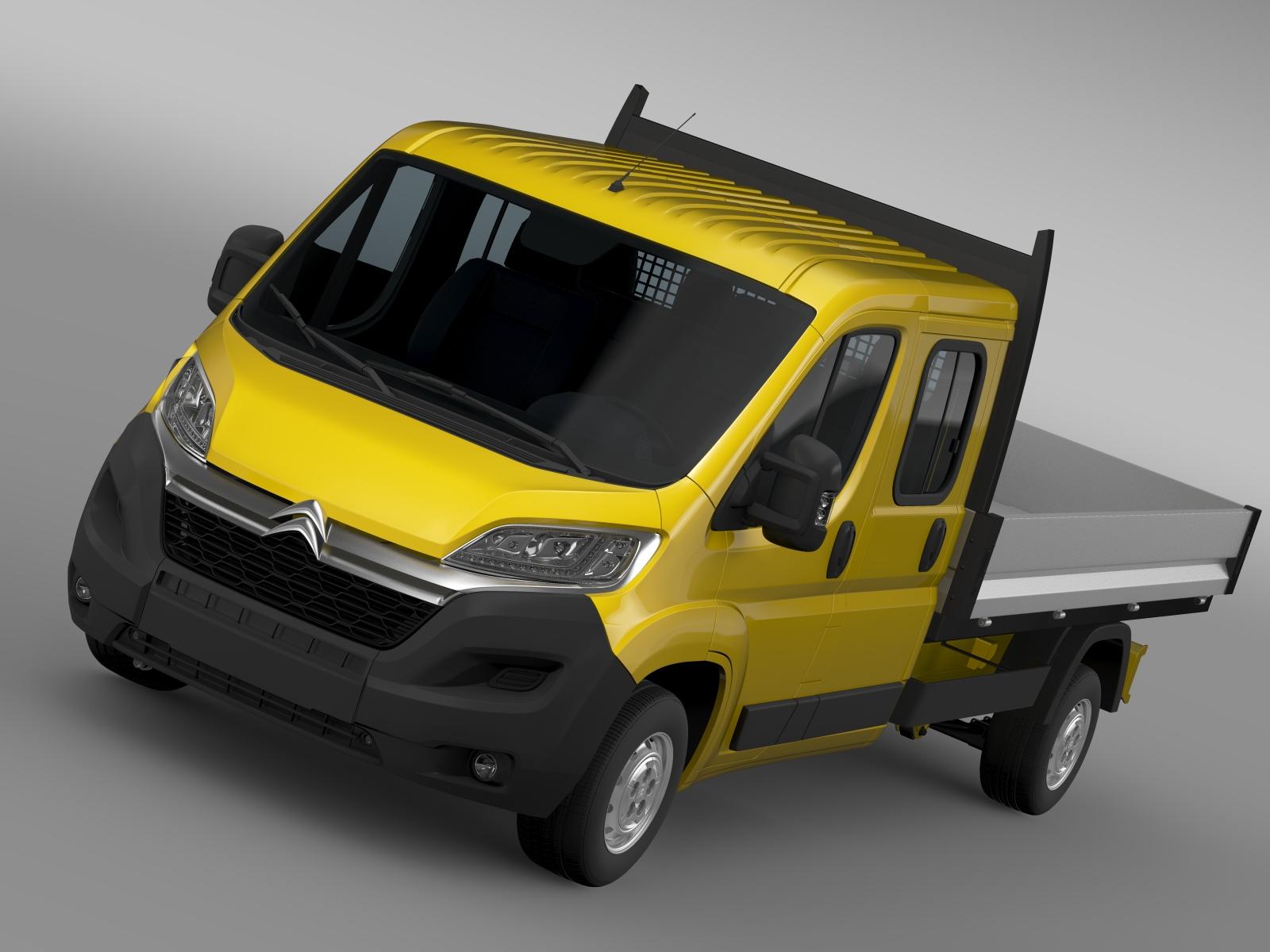 citroen jumper crew cab trak 2016 3d model 3ds max fbx c4d lwo ma mb mud hrc xsi 218662
