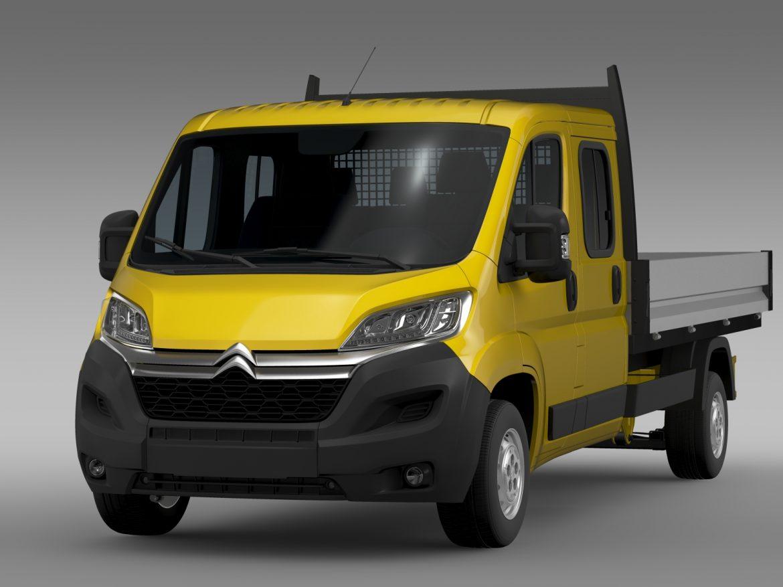 citroen džemperis apkalpes kabīnes kravas automašīna 2016 3d modelis 3ds max fbx c4d lwo ma mb dubļi hrc xsi 218664