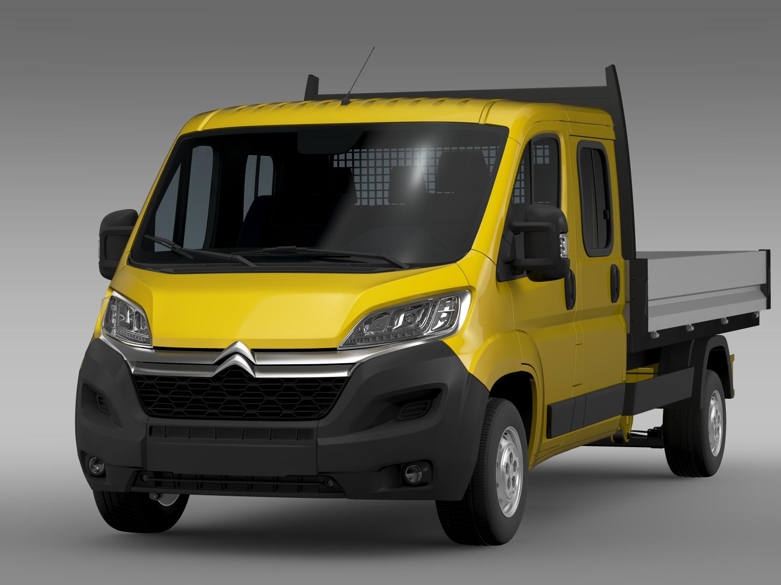 citroen jumper crew cab truck 2016 3d model flatpyramid. Black Bedroom Furniture Sets. Home Design Ideas