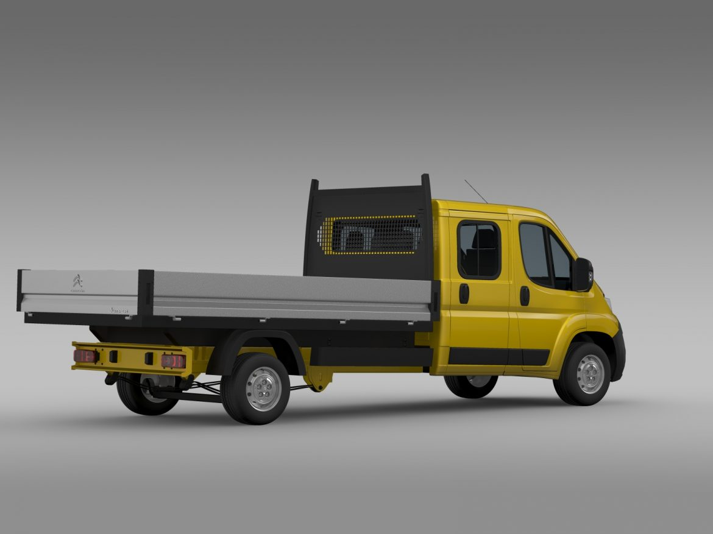 citroen džemperis apkalpes kabīnes kravas automašīna 2016 3d modelis 3ds max fbx c4d lwo ma mb dubļi hrc xsi 218668