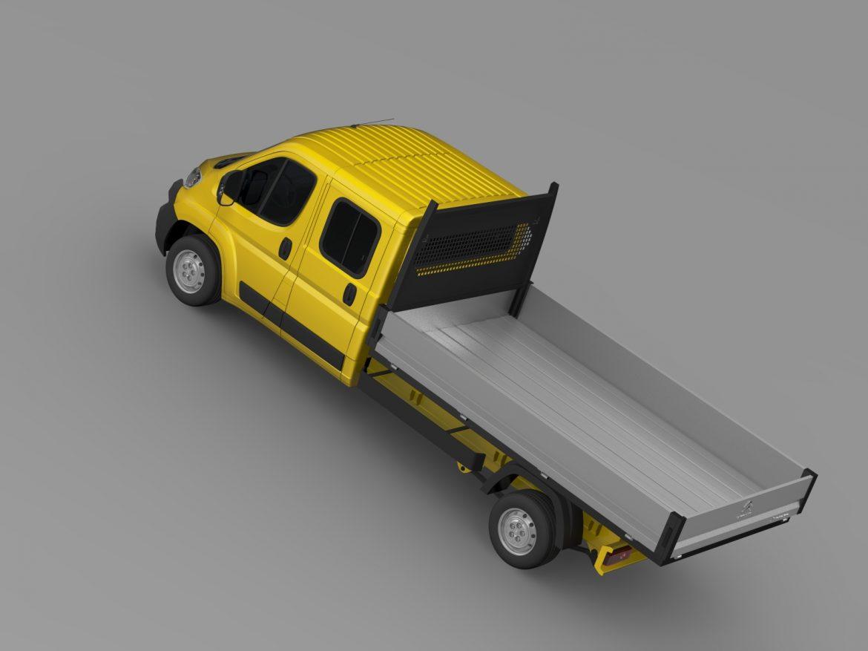 citroen džemperis apkalpes kabīnes kravas automašīna 2016 3d modelis 3ds max fbx c4d lwo ma mb dubļi hrc xsi 218671