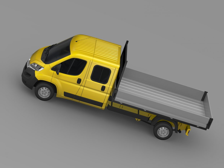 citroen džemperis apkalpes kabīnes kravas automašīna 2016 3d modelis 3ds max fbx c4d lwo ma mb dubļi hrc xsi 218672