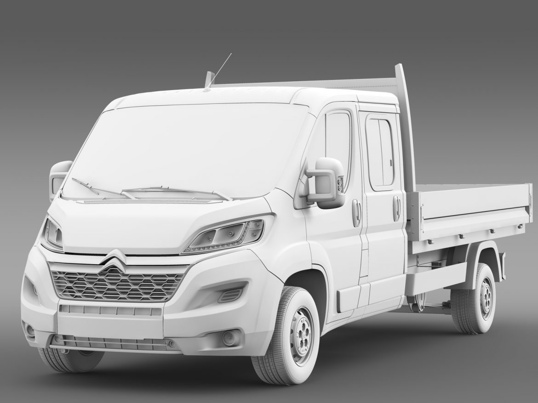 citroen džemperis apkalpes kabīnes kravas automašīna 2016 3d modelis 3ds max fbx c4d lwo ma mb dubļi hrc xsi 218674