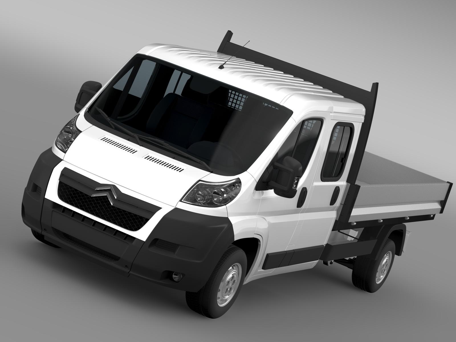 citroen relay crew cab truck 2009-2014 3d model 3ds maks fbx c4d lwo ma mb hrc xsi obj 218682