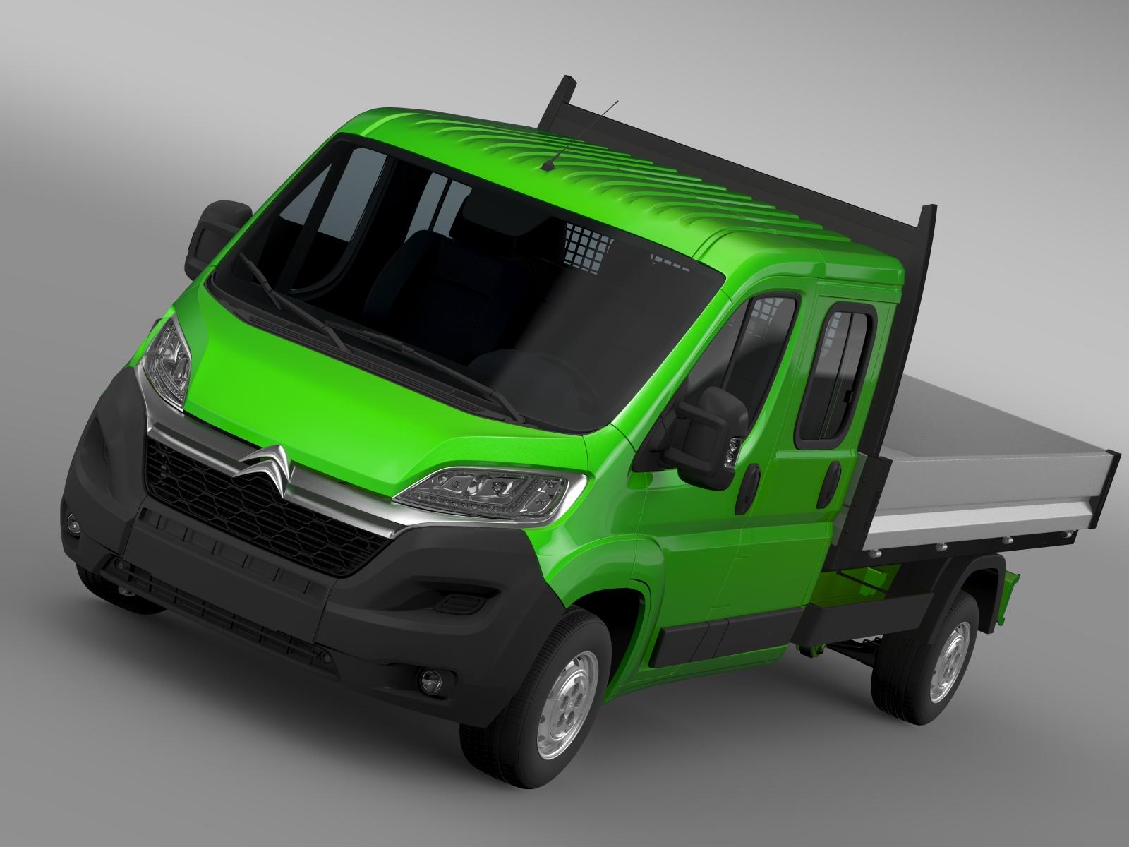 citroen przekaźnik załoga ciężarówki 2016 3d model 3ds max fbx c4d lwo ma mb hrc xsi obj 218702