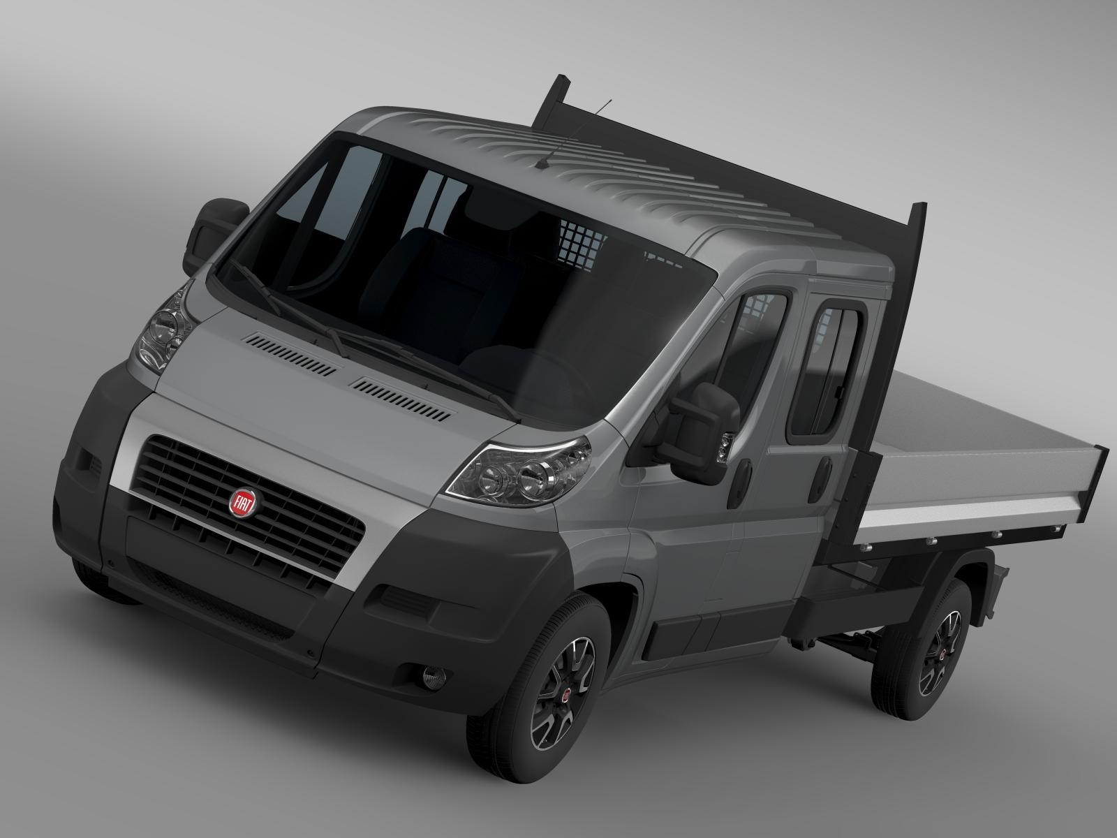 fiat ducato apkalpes kabīnes kravas automašīna 2009-2014 3d modelis 3ds maks.