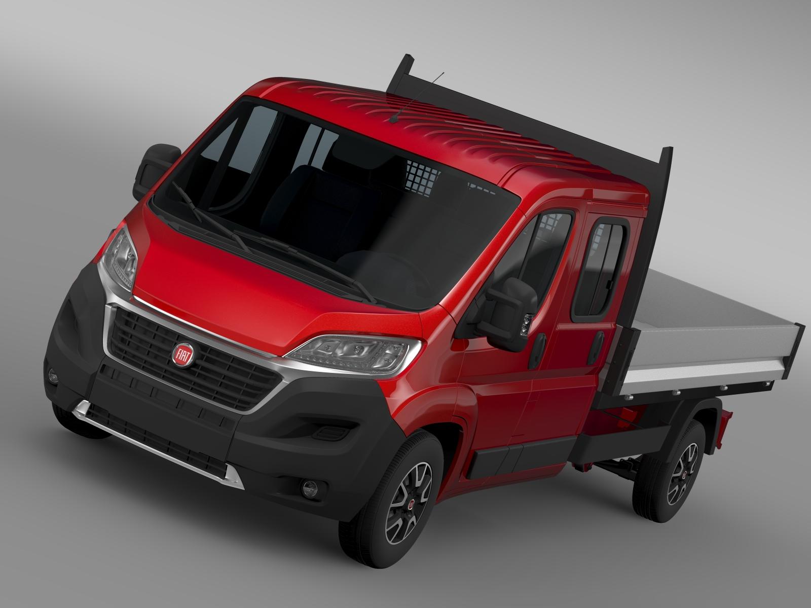 fiat ducato apkalpes kabīnes kravas automašīna 2016 3d modelis 3ds maks.