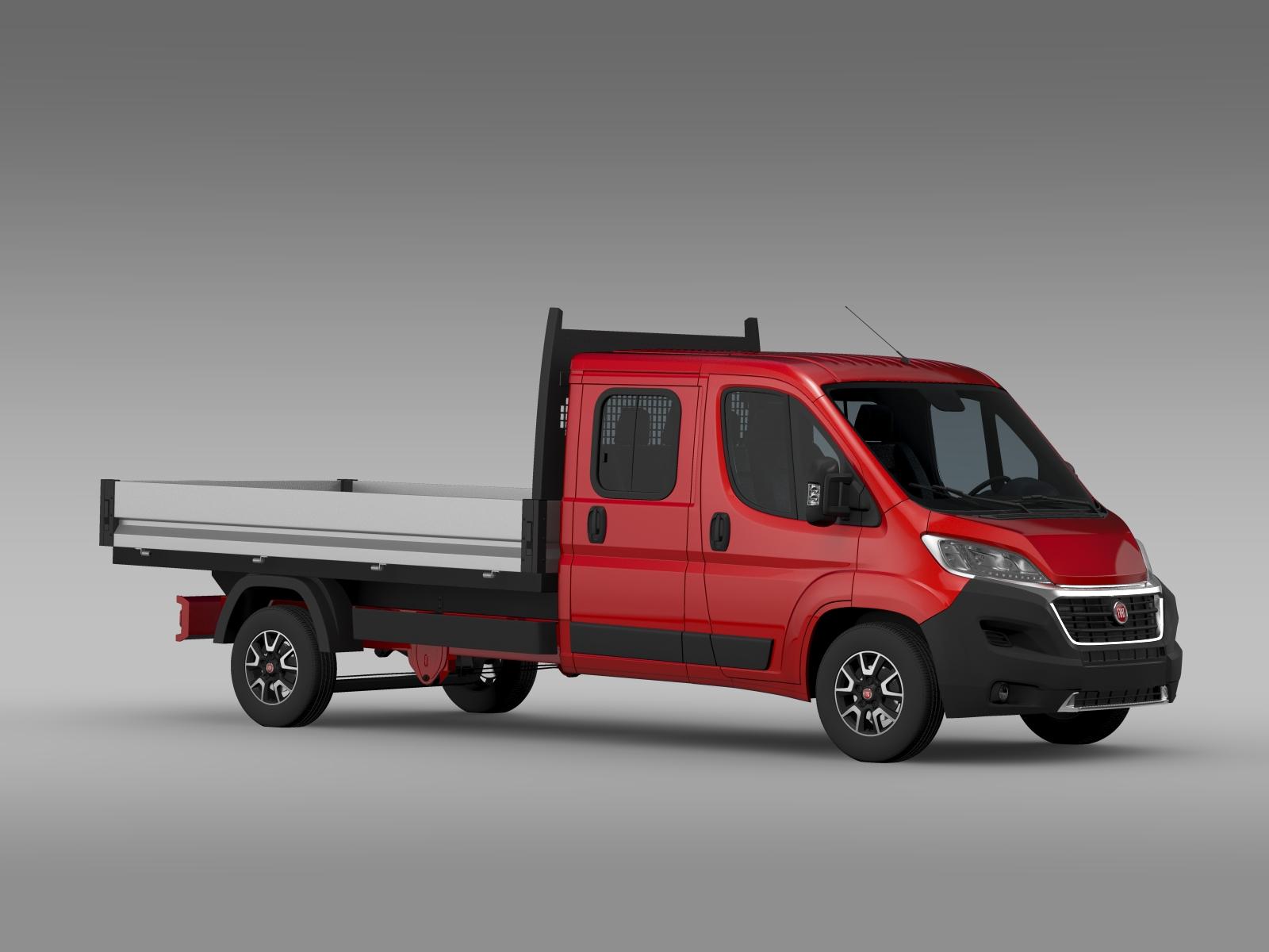 fiat ducato crew cab truck 2016 3d model buy fiat ducato. Black Bedroom Furniture Sets. Home Design Ideas