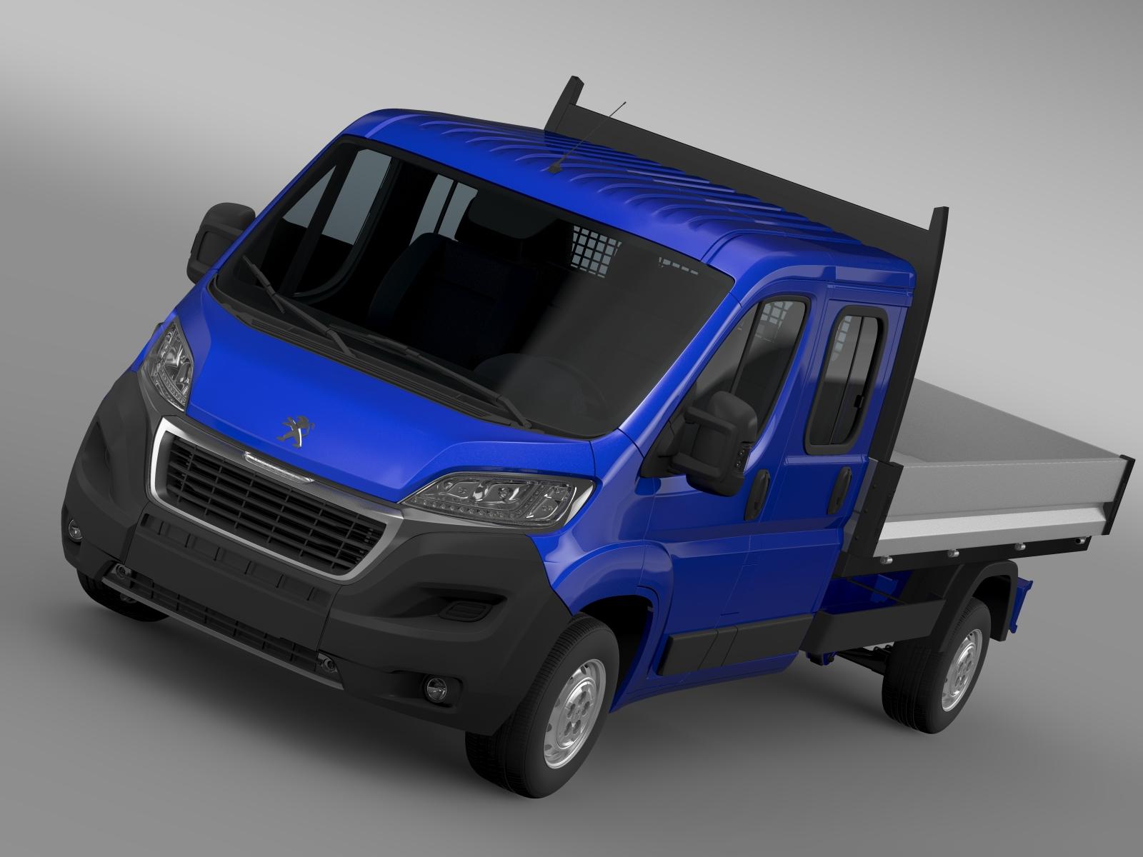 peugeot boxer crew cab truck 2016 3d model 3ds max fbx c4d lwo ma mb hrc xsi obj 218762