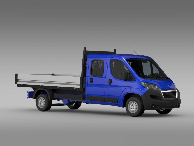 peugeot boxer crew cab truck 2016 3d model 3ds max fbx c4d lwo ma mb hrc xsi obj 218766