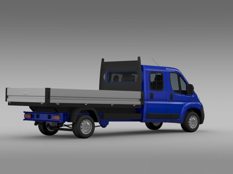 peugeot boxer crew cab truck 2016 3d model 3ds max fbx c4d lwo ma mb hrc xsi obj 218768