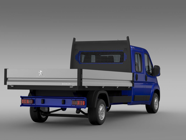 peugeot boxer crew cab truck 2016 3d model 3ds max fbx c4d lwo ma mb hrc xsi obj 218769