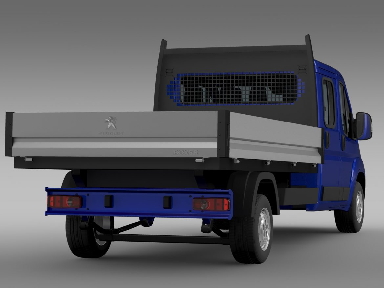 peugeot boxer crew cab truck 2016 3d model 3ds max fbx c4d lwo ma mb hrc xsi obj 218770