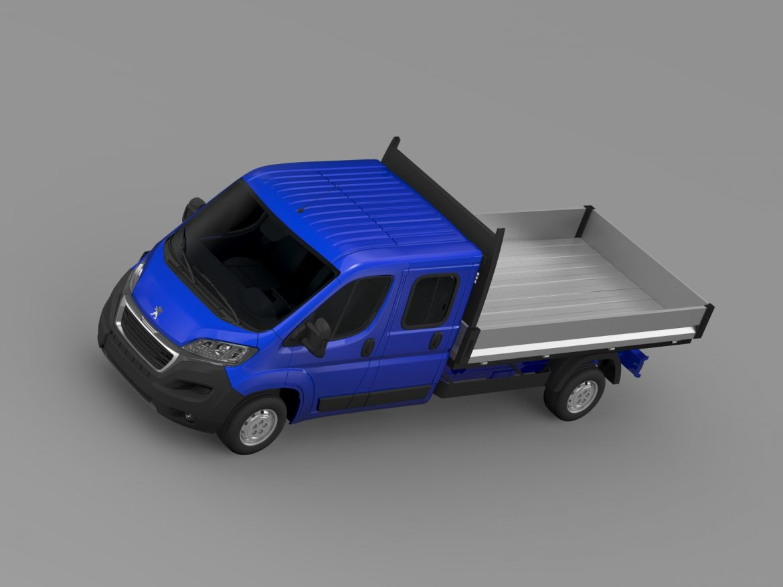 peugeot boxer crew cab truck 2016 3d model 3ds max fbx c4d lwo ma mb hrc xsi obj 218772