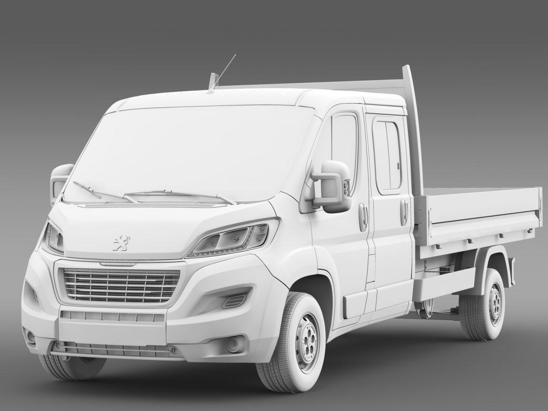 peugeot boxer crew cab truck 2016 3d model 3ds max fbx c4d lwo ma mb hrc xsi obj 218773