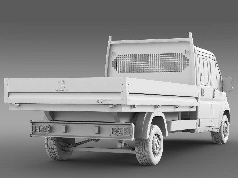 peugeot boxer crew cab truck 2016 3d model 3ds max fbx c4d lwo ma mb hrc xsi obj 218774