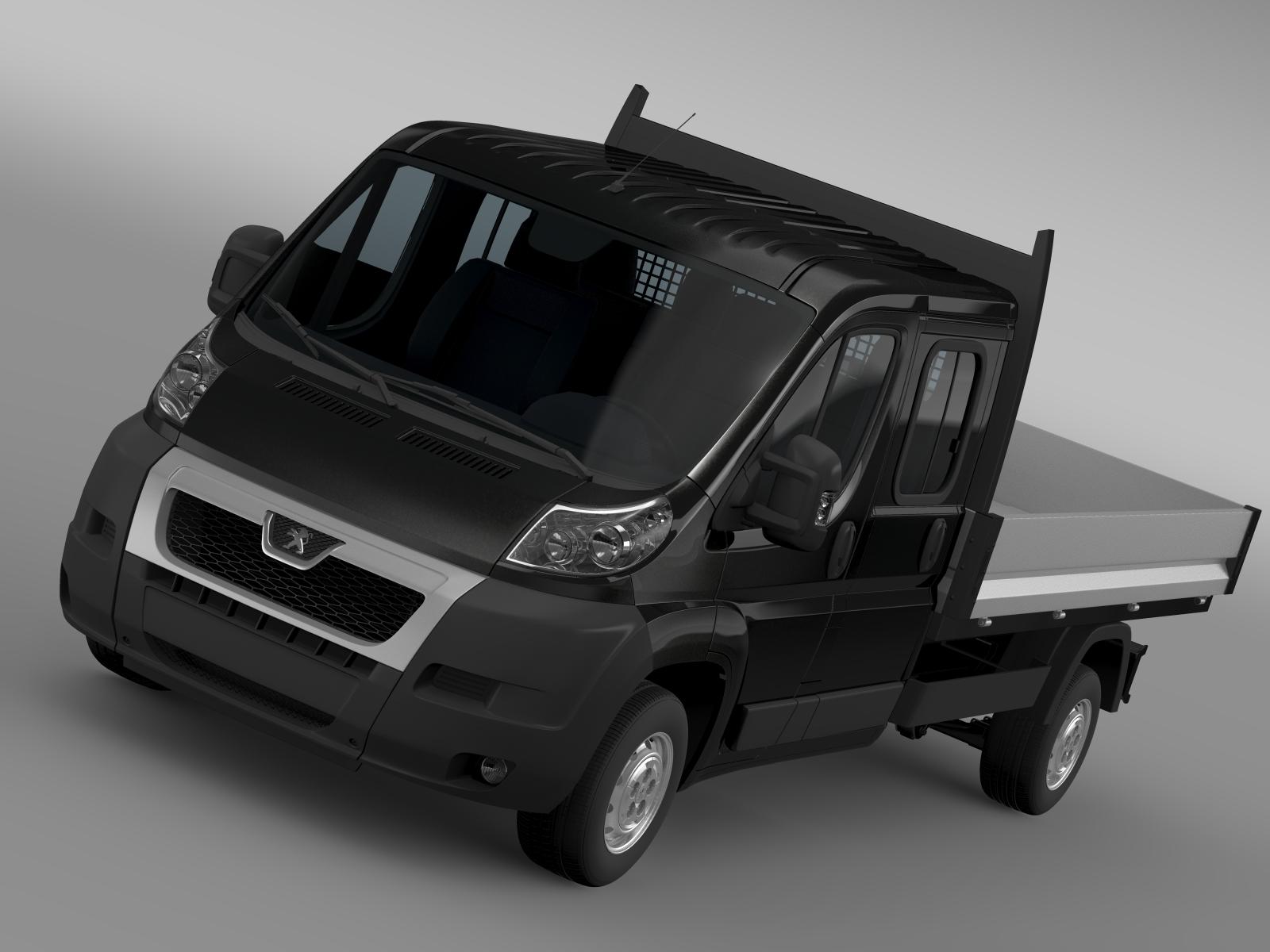 Peugeot boksçu ekipaj kabin maşını 2009-2014 3d modeli 3ds max fbx c4d lwo ma mb hrc xsi obj 218781
