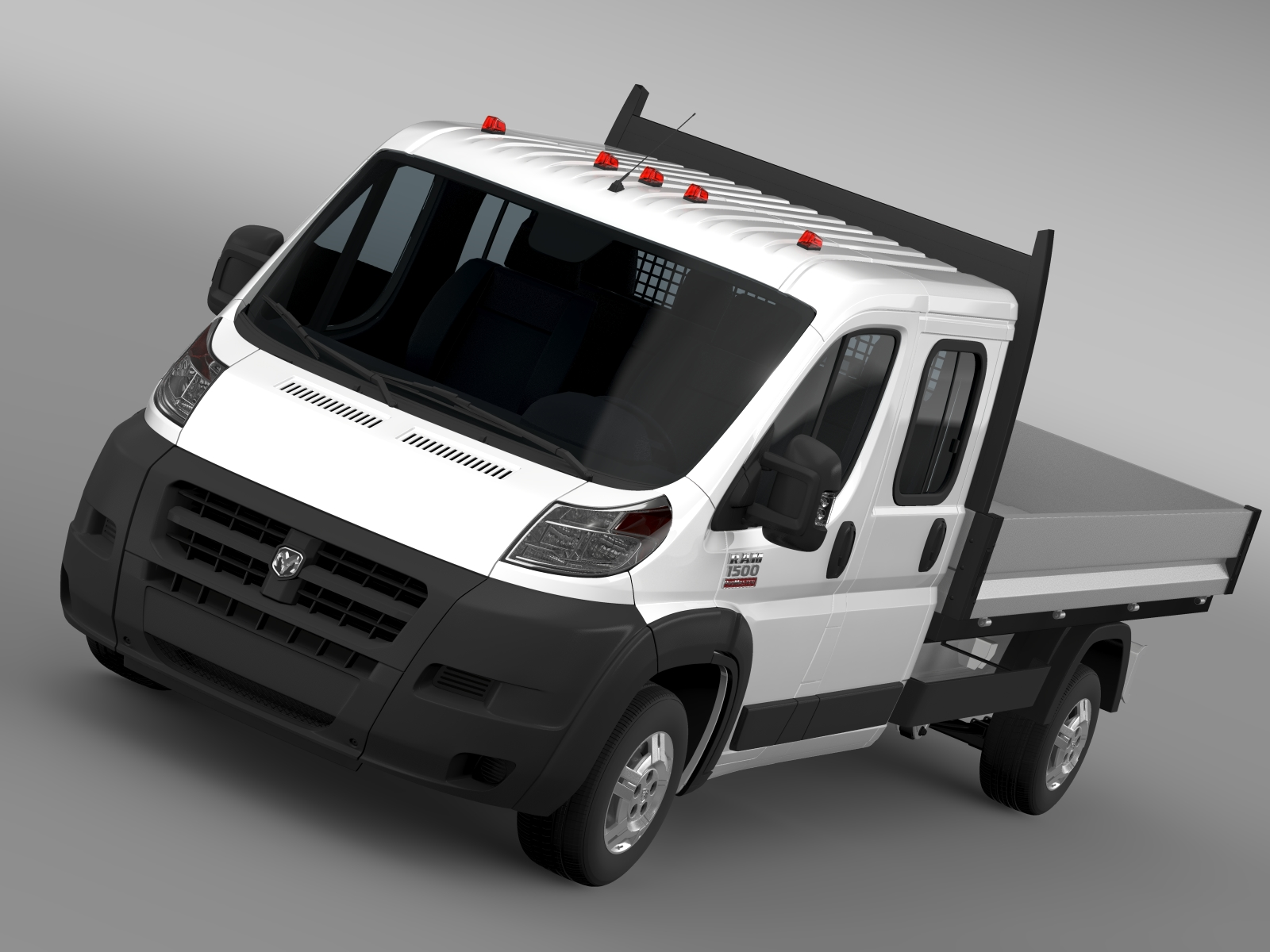 ram promaster cargo crew cab truck 2015 3d model 3ds max fbx c4d lwo ma mb hrc xsi obj 218801