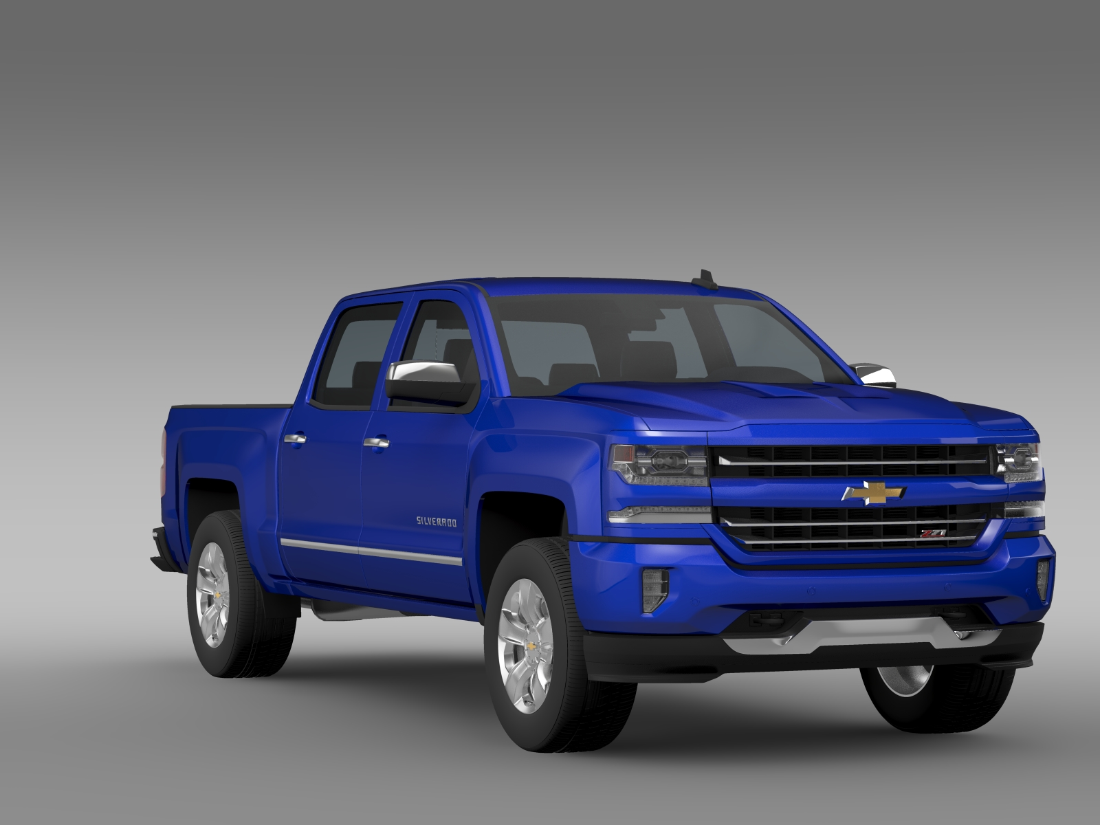 chevrolet silverado ltz z71 crew cab gmtk2 shbox 3d model buy chevrolet silverado ltz z71. Black Bedroom Furniture Sets. Home Design Ideas