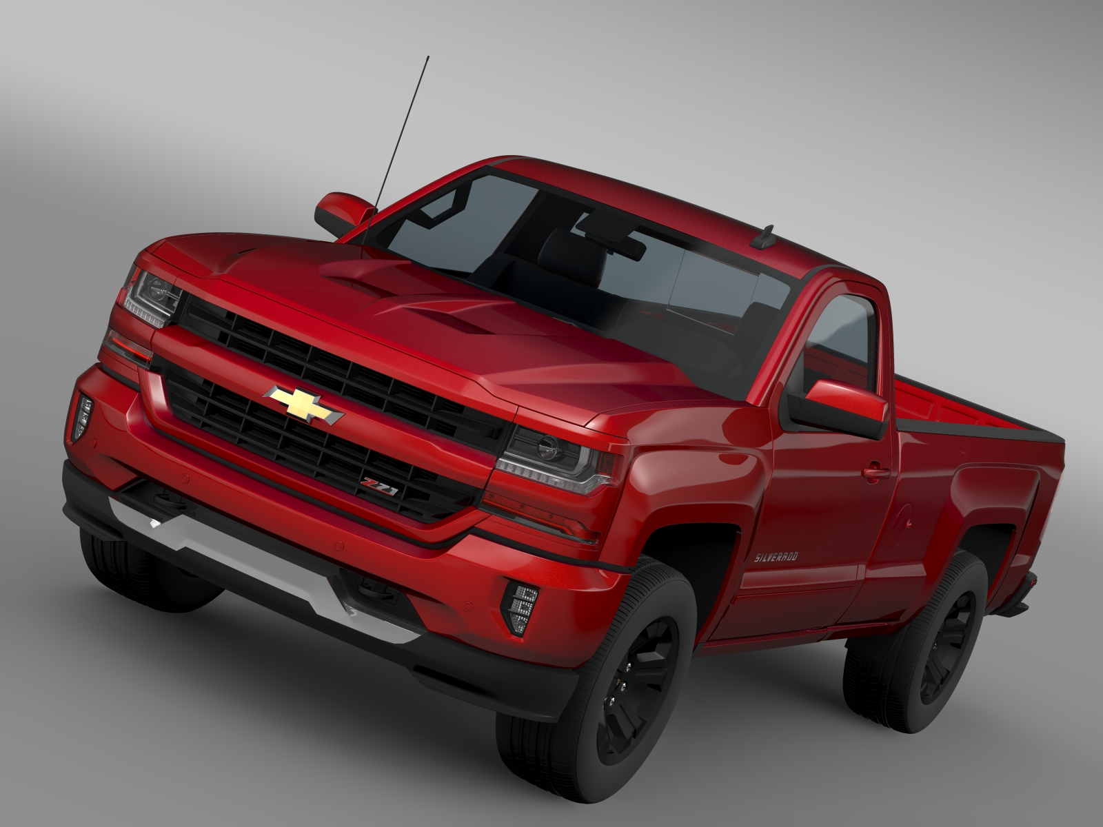 Chevrolet Silverado LT Z71 Regular Cab GMTK2 Long 3d model 3ds max fbx c4d lwo lws lw ma mb  obj 219021
