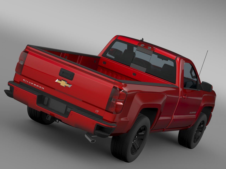 Chevrolet Silverado LT Z71 Regular Cab GMTK2 Long 3d model 3ds max fbx c4d lwo ma mb hrc xsi obj 219022