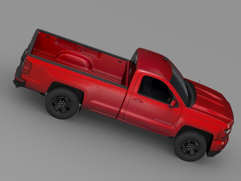 Chevrolet Silverado LT Z71 Regular Cab GMTK2 Long 3d model 3ds max fbx c4d lwo ma mb hrc xsi obj 219031