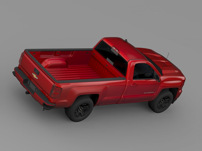 Chevrolet Silverado LT Z71 Regular Cab GMTK2 Long 3d model 3ds max fbx c4d lwo ma mb hrc xsi obj 219032