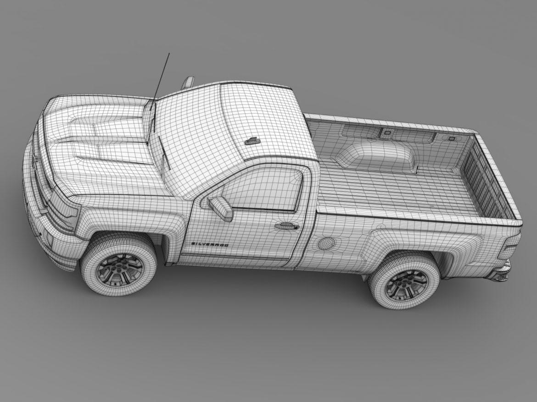 Chevrolet Silverado LT Z71 Regular Cab GMTK2 Long 3d model 3ds max fbx c4d lwo ma mb hrc xsi obj 219038