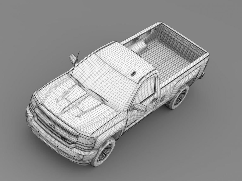 Chevrolet Silverado LT Z71 Regular Cab GMTK2 Long 3d model 3ds max fbx c4d lwo ma mb hrc xsi obj 219039