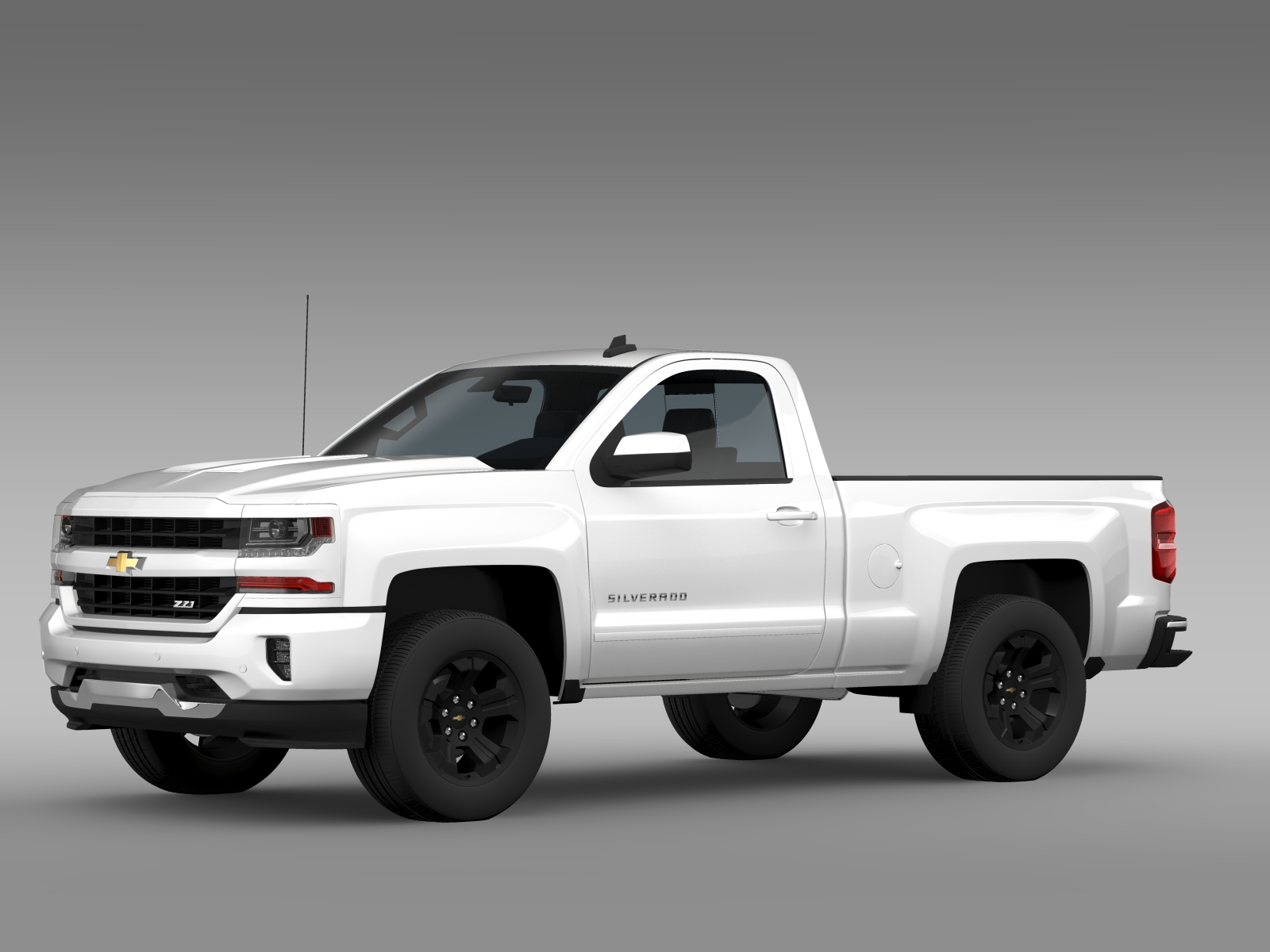 chevrolet silverado lt z71 regular cab gmtk2 stand 3d model buy chevrolet silverado lt z71. Black Bedroom Furniture Sets. Home Design Ideas