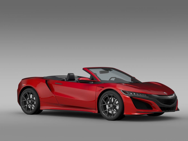 acura nsx cabriolet 2017 3d model 3ds max fbx c4d lwo ma mb hrc xsi obj 219125