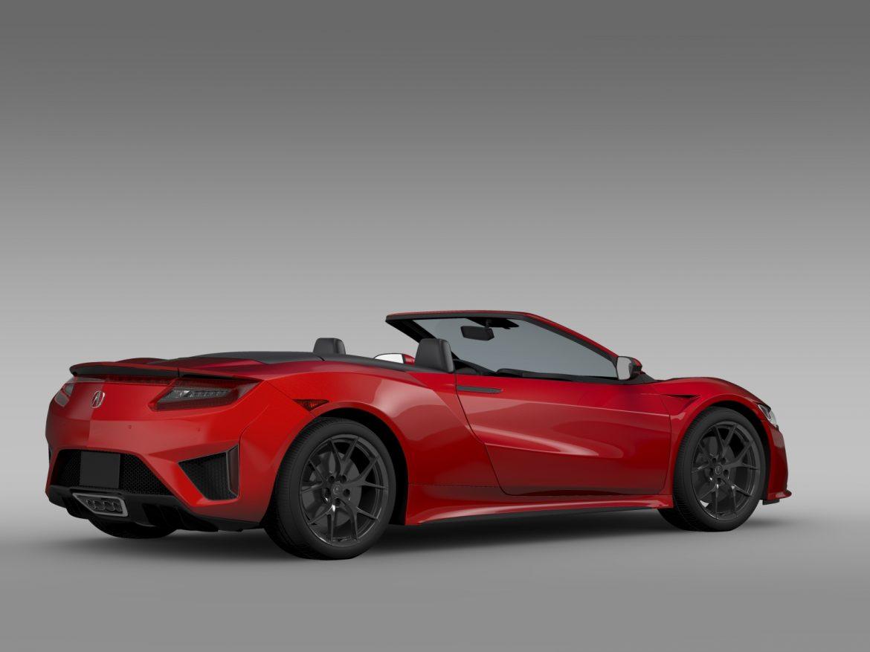 acura nsx cabriolet 2017 3d model 3ds max fbx c4d lwo ma mb hrc xsi obj 219127