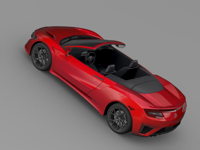 acura nsx cabriolet 2017 3d model 3ds max fbx c4d lwo ma mb hrc xsi obj 219130