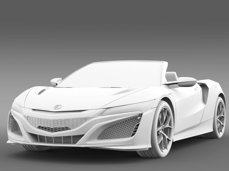 acura nsx cabriolet 2017 3d model 3ds max fbx c4d lwo ma mb hrc xsi obj 219133