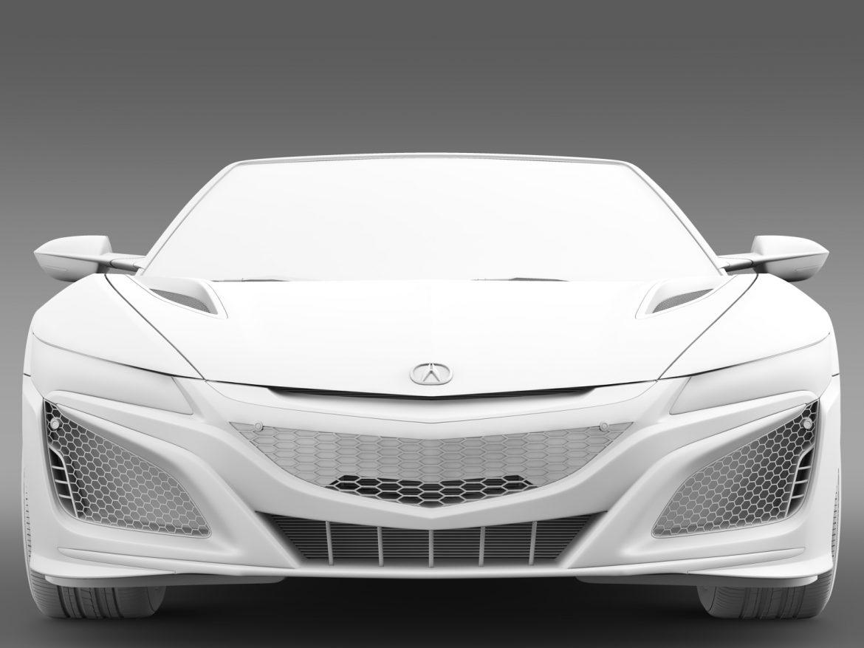acura nsx cabriolet 2017 3d model 3ds max fbx c4d lwo ma mb hrc xsi obj 219134