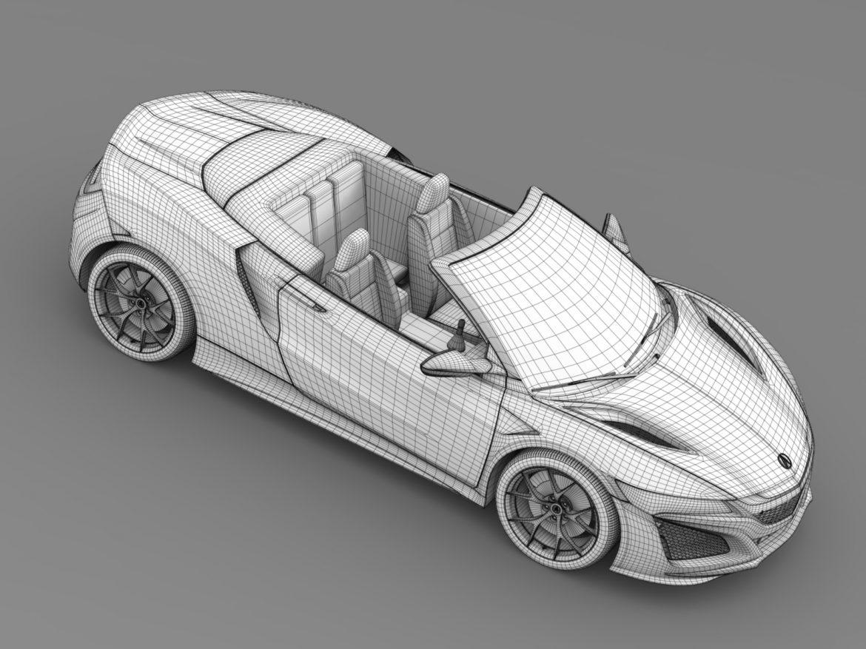 acura nsx cabriolet 2017 3d model 3ds max fbx c4d lwo ma mb hrc xsi obj 219137