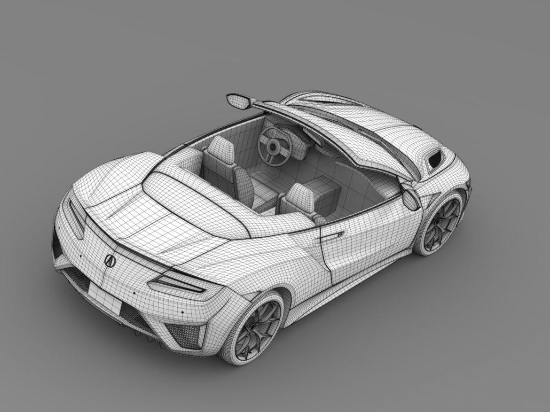 acura nsx cabriolet 2017 3d model 3ds max fbx c4d lwo ma mb hrc xsi obj 219139