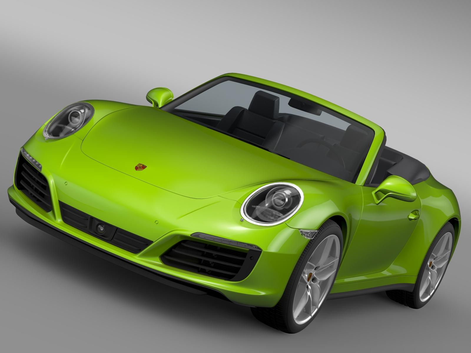 porsche 911 carrera 4s cabriolet 991 2016 3d model 3ds max fbx c4d lwo ma mb hrc xsi obj 219199