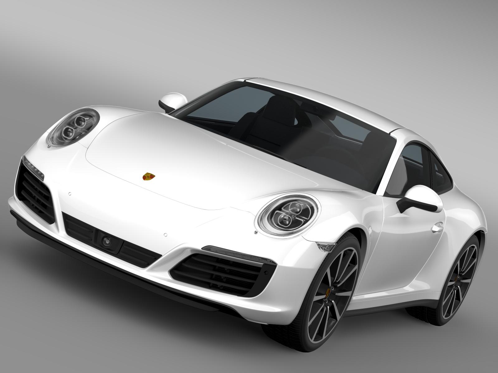 porsche 911 carrera 4s coupe 991 2016 3d model buy porsche 911 carrera 4s coupe 991 2016 3d. Black Bedroom Furniture Sets. Home Design Ideas