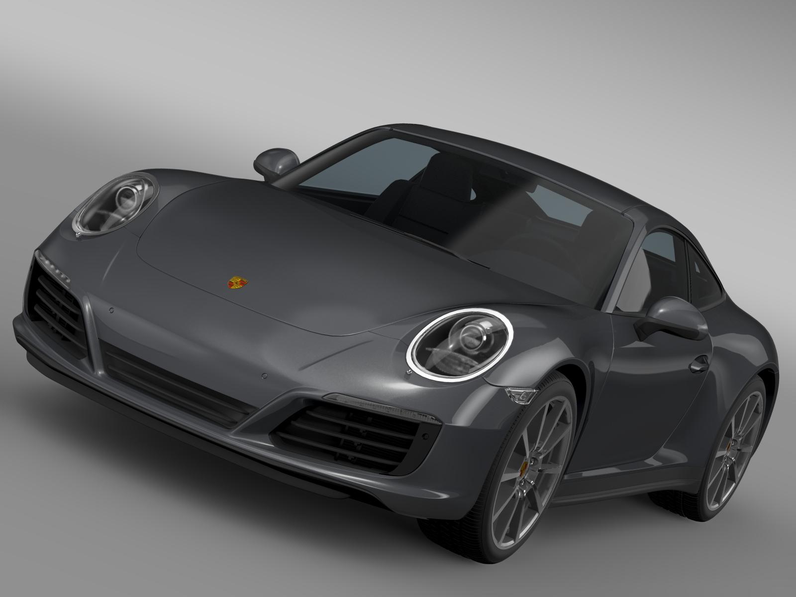 porsche 911 carrera coupe 991 2016 3d model 3ds max fbx c4d lwo ma mb hrc xsi obj 219259